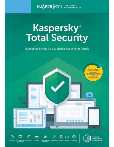 Kaspersky Total Security 3PC - 1Jahr...
