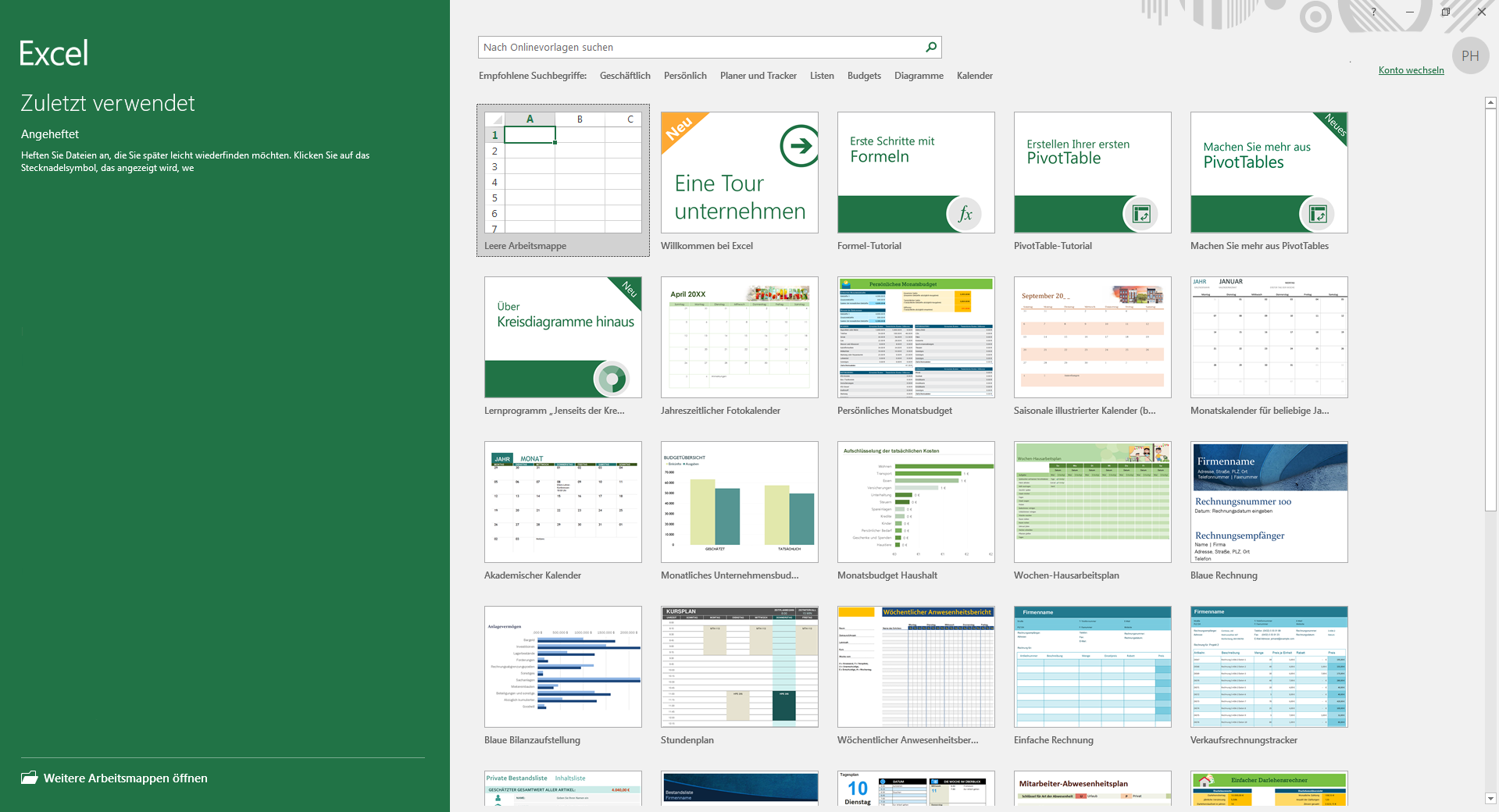 Office 2016 standard Excel